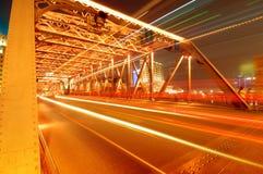 ноча shanghai bund Стоковые Изображения RF