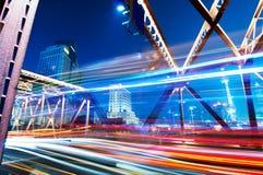 ноча shanghai bund Стоковые Изображения
