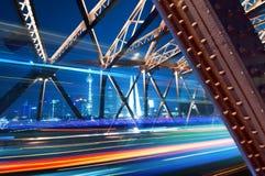 ноча shanghai bund Стоковая Фотография RF