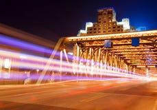 ноча shanghai bund Стоковая Фотография