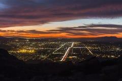 Ноча Simi Valley Стоковая Фотография