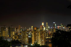 ноча singapore городского пейзажа Стоковое фото RF