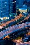 ноча singapore города Стоковые Фотографии RF