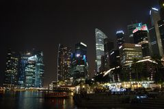 ноча singapore Стоковое Изображение