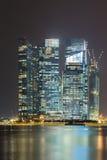 ноча singapore Стоковая Фотография