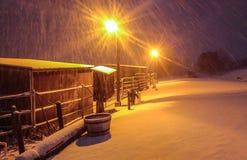 Ноча Snowy Стоковые Фото