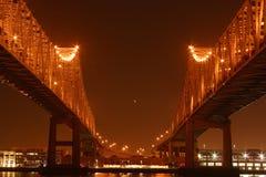 ноча spans близнец стоковое изображение