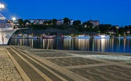 ноча stockholm Стоковая Фотография