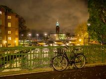 ноча stockholm Стоковые Изображения RF