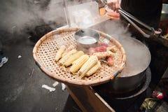 ноча taiwan рынка еды конуса Стоковая Фотография