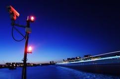 ноча thames london стоковое изображение