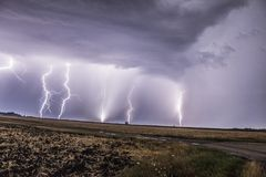 Ноча Thunderlight Стоковые Изображения RF
