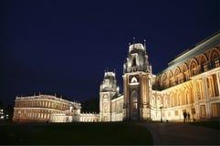 ноча ` Tsaritsyno ` Музе-запаса грандиозный дворец Москва, Стоковая Фотография RF