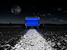 ноча tv Стоковое Изображение RF