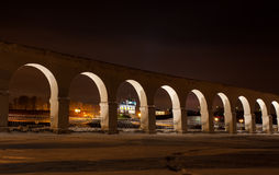 Ноча Veliky Новгорода Стоковая Фотография RF