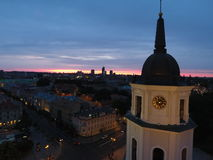 ноча vilnius Стоковое фото RF