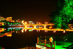Ноча Wutongqiao Стоковые Фото