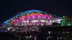 16:9 ночи арены Сочи Fisht панорамное горизонтальное Стоковая Фотография