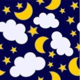 ночи безшовные Стоковое Фото