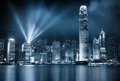 Ночи Гонконга Стоковое Изображение RF