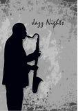 ночи джаза Стоковое фото RF