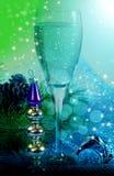 Ночи Новые Годы жизни стиля с шампанским Стоковые Фото