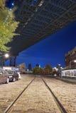 Ночи Нью-Йорк Бруклина стоковое изображение rf