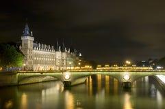 ночи парижские Стоковые Фотографии RF