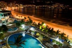 ночи acapulco Стоковые Фото
