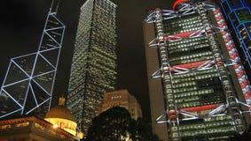 ночи Hong Kong Стоковое Изображение
