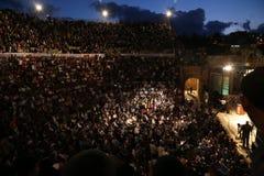 Ночи Jerash Стоковые Изображения RF