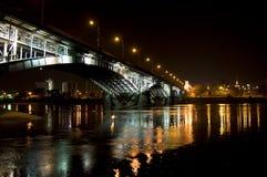 ночи warsaw моста Стоковое Изображение RF
