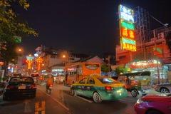 Ночная жизнь Бангкока, Азии Стоковые Изображения RF