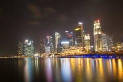 Ночная жизнь в Сингапуре Стоковая Фотография RF