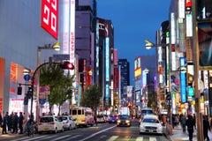 Ночная жизнь в токио Стоковое Изображение RF
