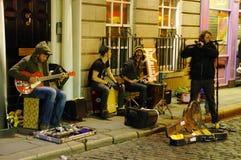 Ночная жизнь в улицах Дублина Стоковое Фото