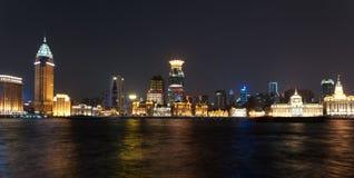 Ночная жизнь в Шанхай Стоковое Изображение RF