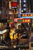 Ночная жизнь в Hong Kong. Стоковые Изображения
