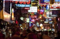 Ночная жизнь в Pattaya, Таиланде Стоковые Изображения RF