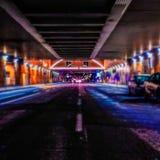 Ночная жизнь города стоковые изображения rf