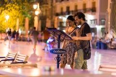 Ночная жизнь города Nafplio Стоковая Фотография RF