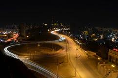 Ночная жизнь на Владивостоке стоковое фото