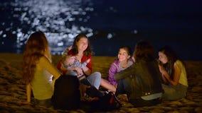 Ночная жизнь на пляже видеоматериал