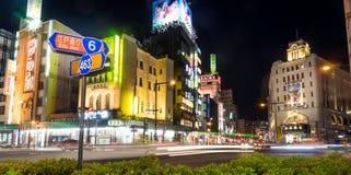 Ночная жизнь на торговой улице Эдо Dori Asakusa Стоковые Изображения