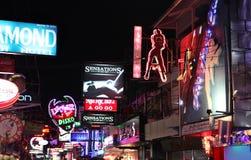 Ночная жизнь на улице в Паттайя Стоковая Фотография RF