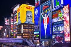 Ночная жизнь Осака Стоковые Фотографии RF