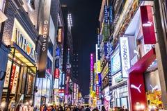 Ночная жизнь Сеула Стоковое Фото
