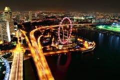 ночная жизнь Сингапура Стоковое Изображение RF