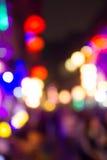 Ночная жизнь фокуса нерезкости Стоковые Фото