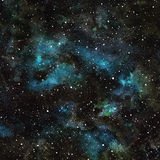Ночное небо акварели с звездами Стоковое фото RF
